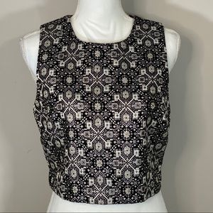 Forever 21 Sparkle Cut Off Sleeveless Dress Top